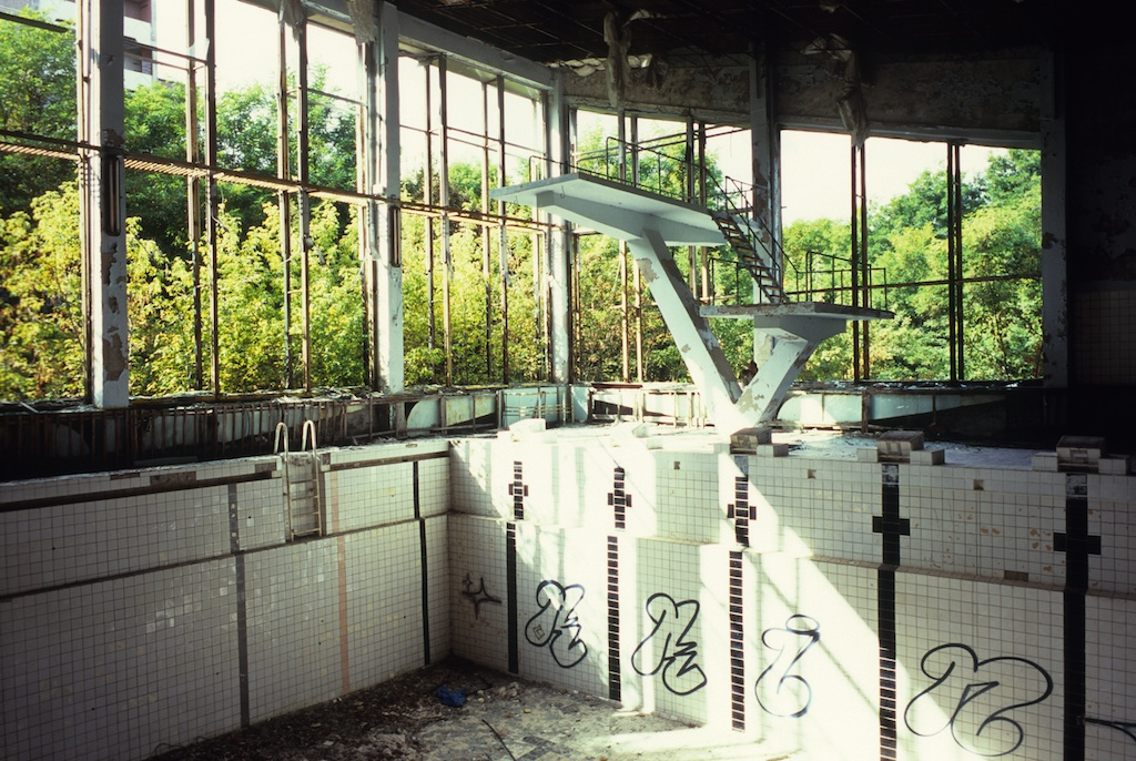 The Abandoned Swimming Pool In Pripyat Near Chernobyl Steve Huff Photo