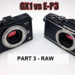 Panasonic GX1 vs Olympus E-P3 - Part 3 - RAW