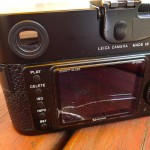Help a reader! Screen crack on a Leica M9