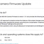 Sony NEX-5n Firmware Update just released!