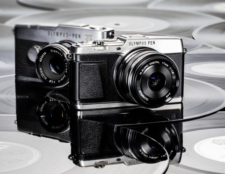Olympus PEN E-P5 and all black Lenses now available at Amazon for pre