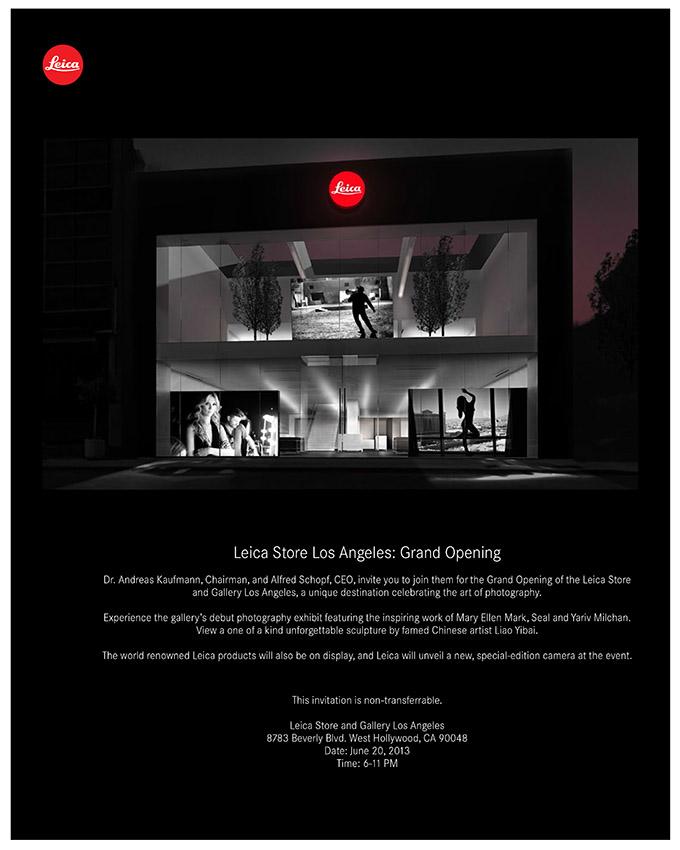 Leica Store LA Opening - Invitation