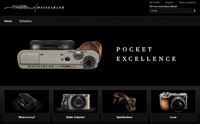 Hasselblad-Stellar-website
