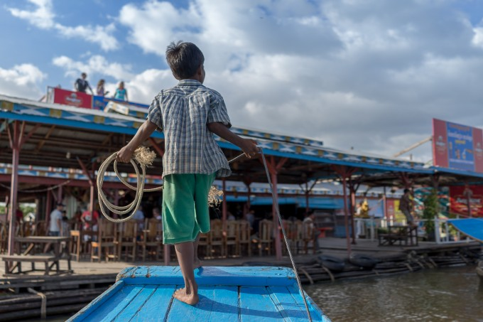 Cambodia Boat Kid