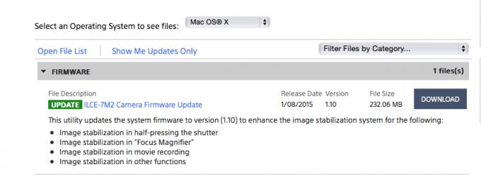 Sony A7II Firmware Update 1 10 is here! | Steve Huff Photo