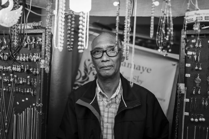 Man in jewelery shop