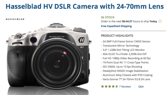 Mega Deal! $8,500 OFF this Hasselblad HV DSLR & Zeiss Lens