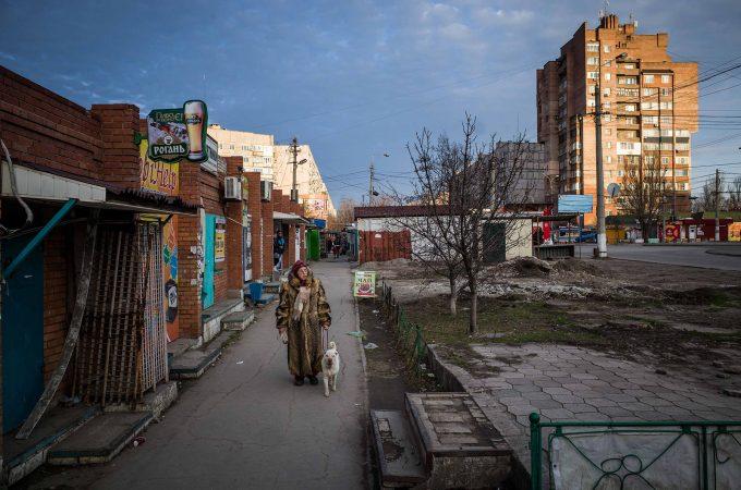 Ukraine, march 2015. Escenas de vida diaria en la ciudad de Mariupol que s eencuentra a pocos km de la linea de combate entre ejercito ukranio y separatistas pro rusos.