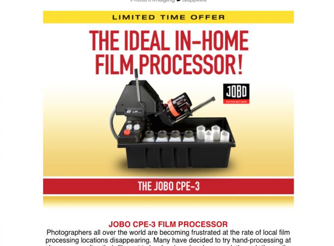 The Jobo CPE-3 In Home FILM Processor. Check it out…