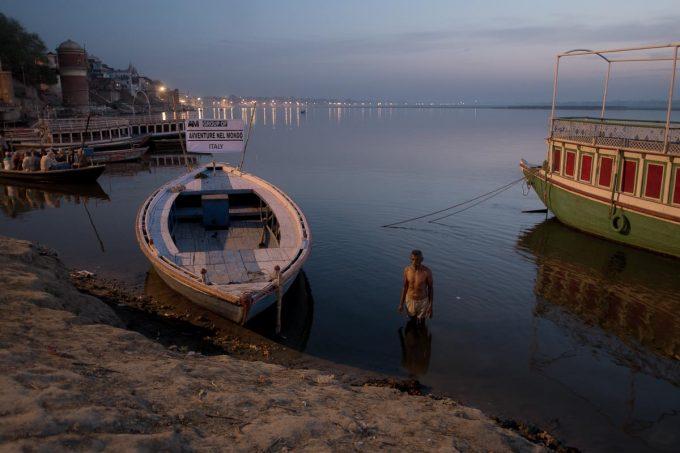 Varanasi, the boat and the man.