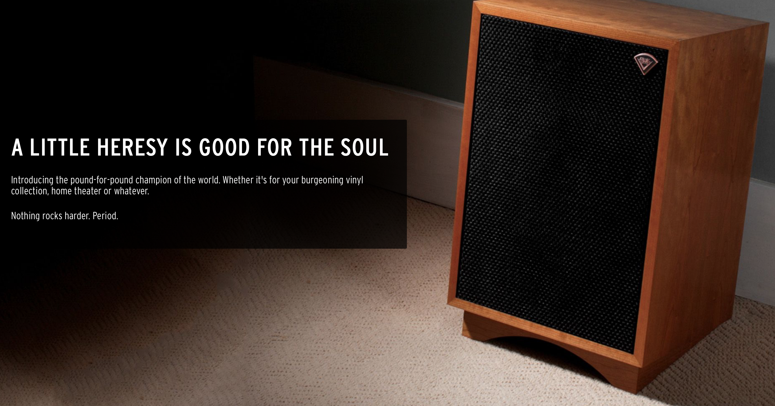 Klipsch Heresy III Speaker Review  I'm floored and here is