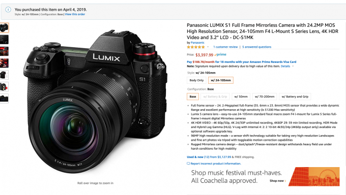 The Panasonic S1 Camera Review  The best I have seen this Year (2019